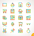 Highlighter Line Icons Set 6 vector image vector image