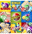 The set of bingo designes vector image vector image