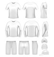 white men's clothing set
