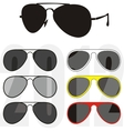 sunglasses trendy collection vector image