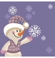 Snowman color 12 vector image