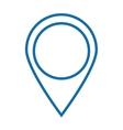 simple gps pin vector image
