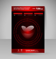 Brochure Design Template with Valentines heart vector image
