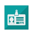 card identification isolated icon vector image