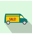 Delivery truck icon flat style vector image