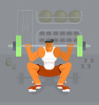 man lifting dumbbell vector image