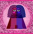 sphinx in pop art style vector image