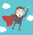 super businessman flying vector image