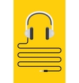 Headphones with cord and plug vector image