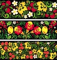 Patterns in traditional russian style Hohloma vector image vector image