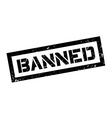 Banned rubber stamp vector image