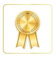 Award ribbon gold icon laurel wreath crown vector image