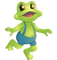 beautiful humanoid frog vector image