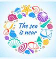 tropical resort aquatic concept with sea vector image