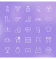 Sport and Healthy Lifestyle Line Icons Set vector image