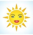 Cute smiling sun vector image