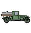Vintage tank truck vector image