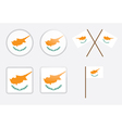 badges with flag of Cyprus vector image