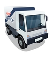 Delivery Cargo Truck Graphic on White Background vector image
