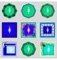 Female sign icon Woman human symbol Women toilet vector image