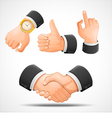handshake and hand gestures vector image