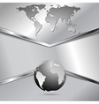 Modern metallic technology design vector image