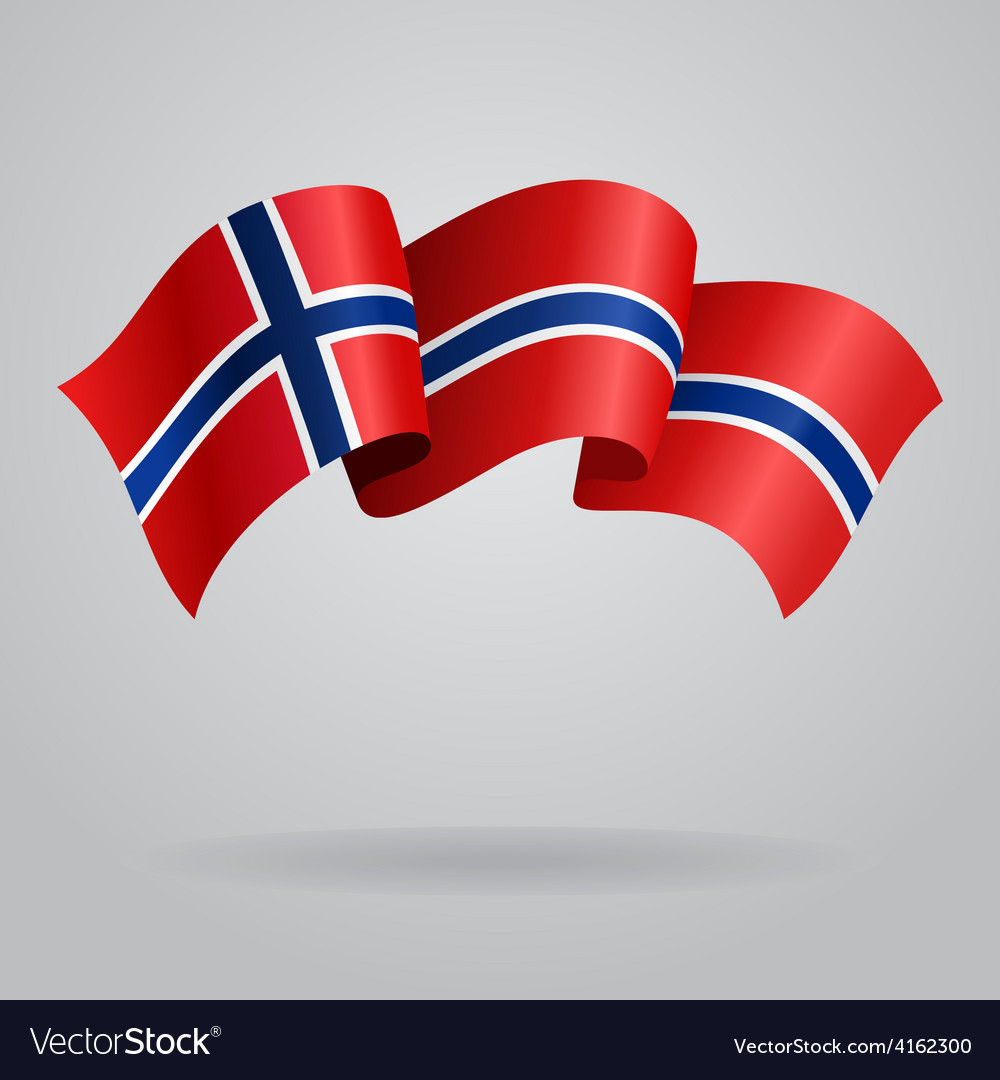 Norwegian waving flag vector