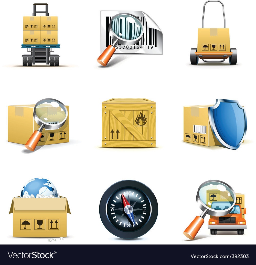 Logistic icons  bella series vector