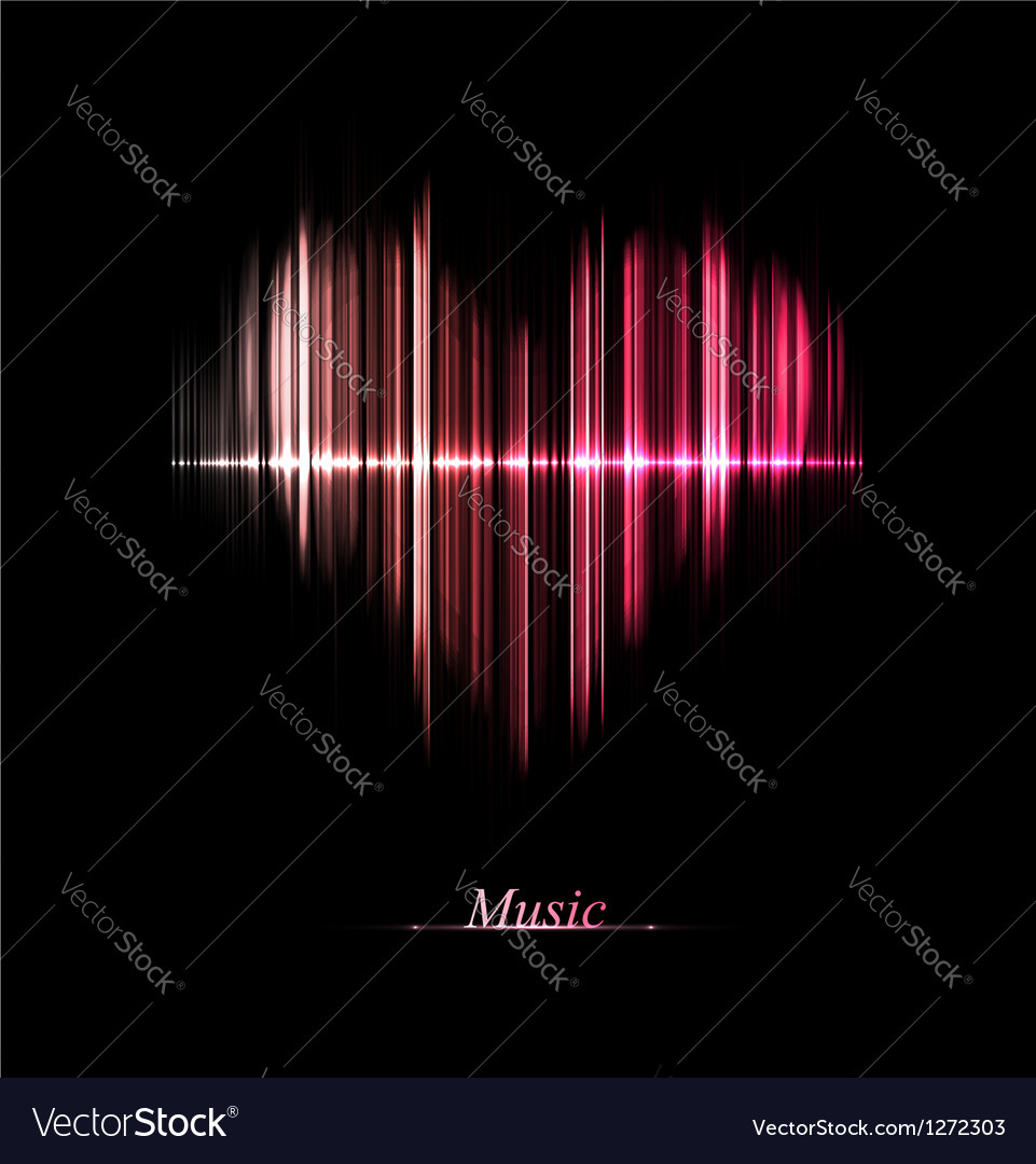 Love of music vector