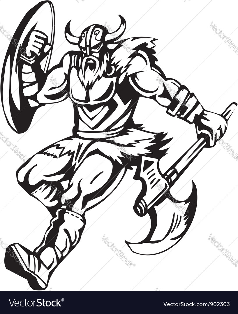 Nordic viking  vinylready vector