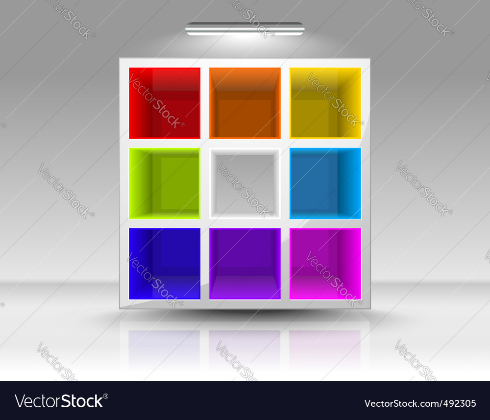Colored shelves vector