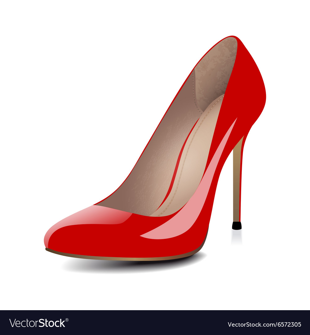 High heels red shoes vector