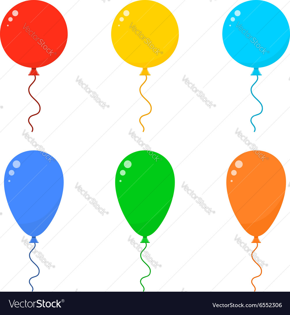 Icon set balloons vector