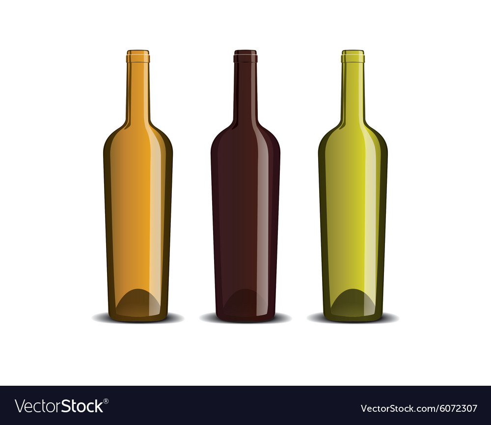 Mock up of the wine bottle vector