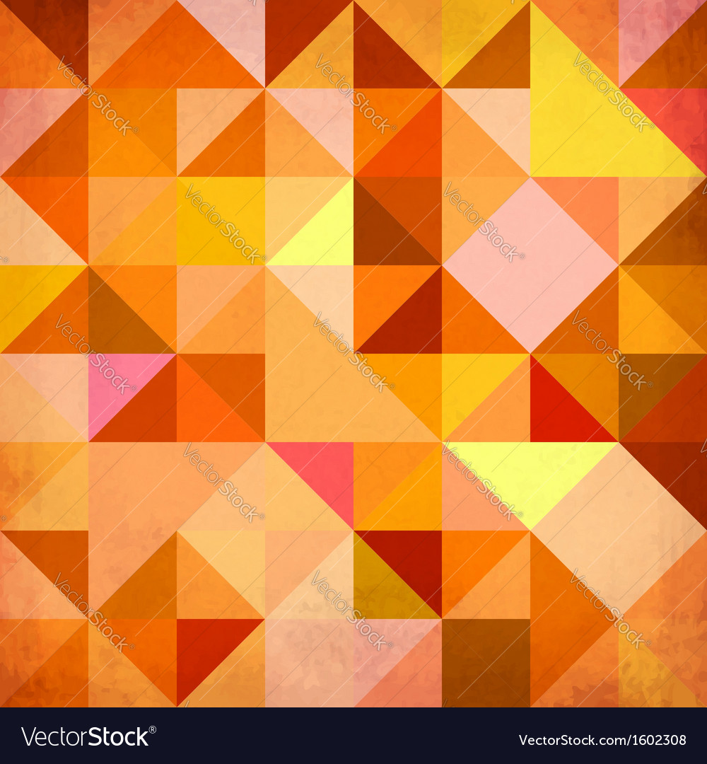 Abstract triangles grunge background vector