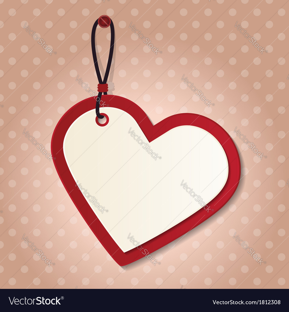 Heart tag vector