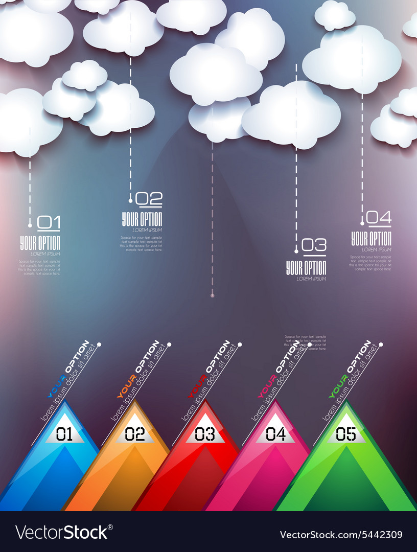 Cloud computing concept with infographics vector