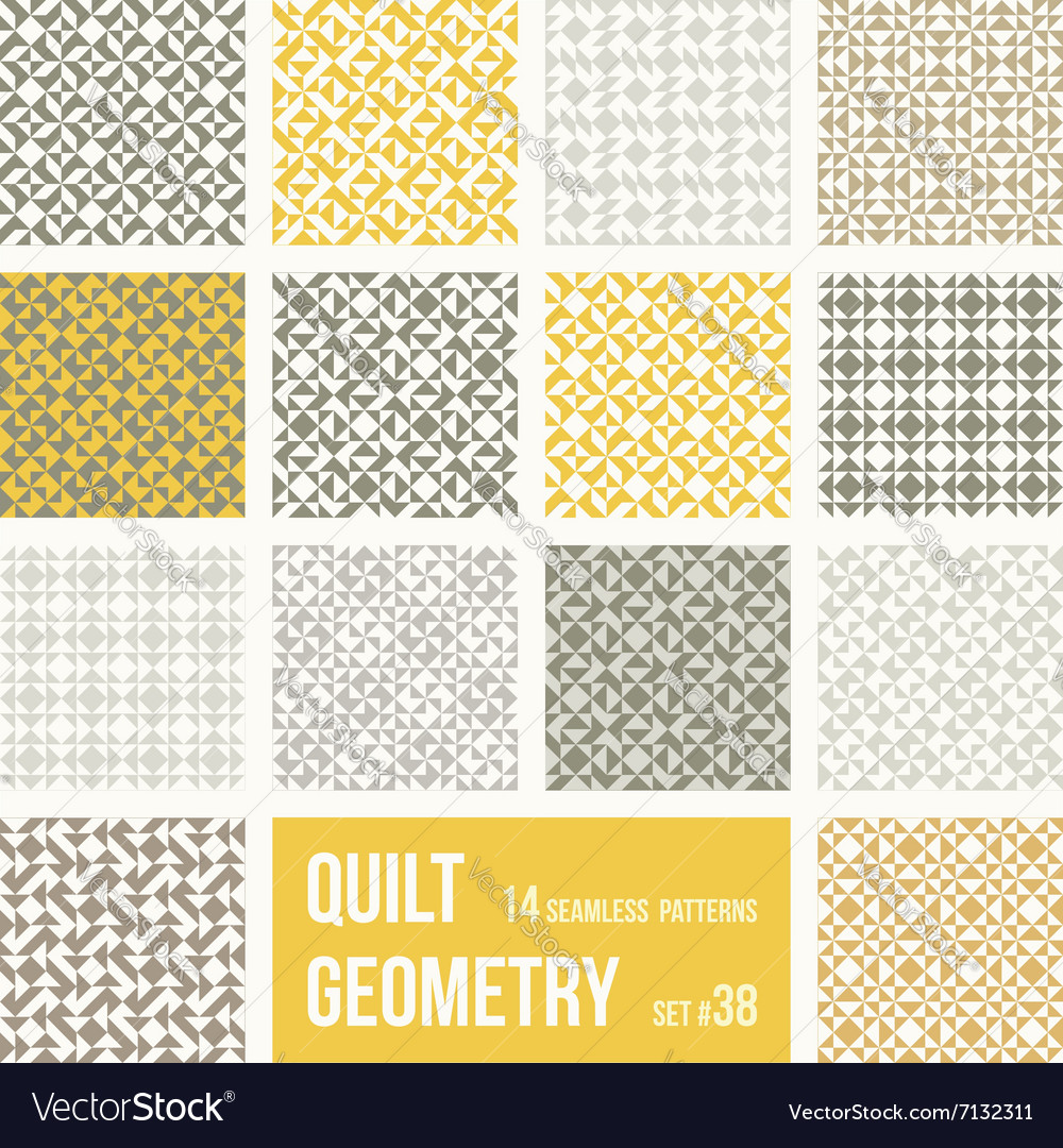 Set of 12 tiles with geometric patterns vector