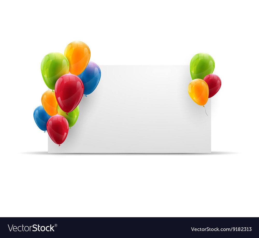 Birthday balloons banner or poster on isolated vector