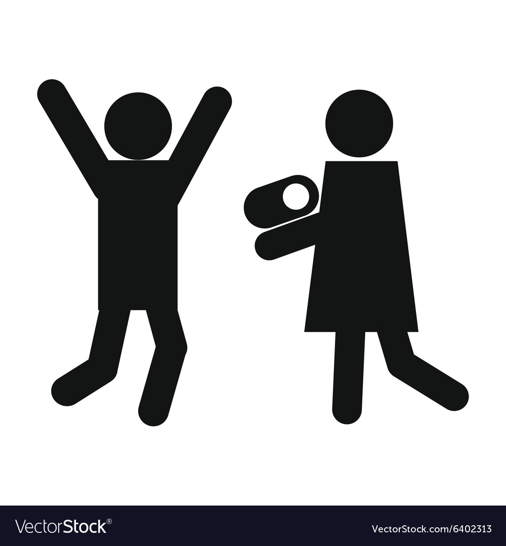 Man woman and child icon vector