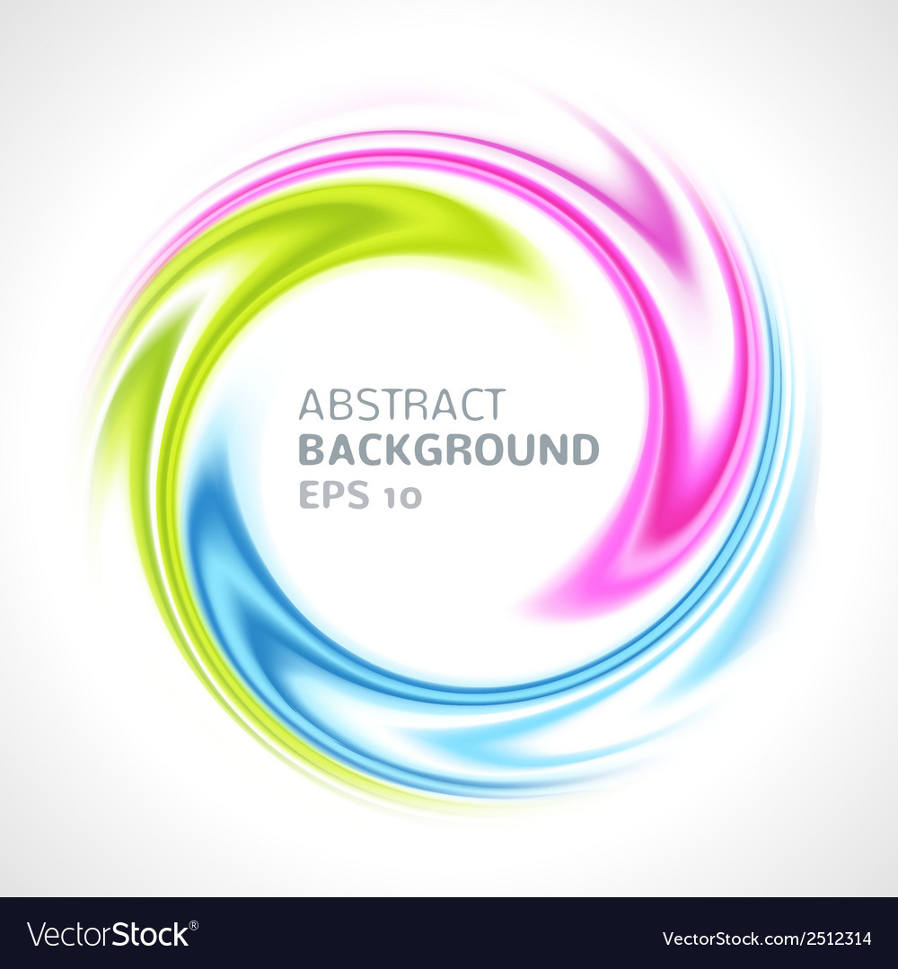 Abstract colorful swirl circle bright background vector