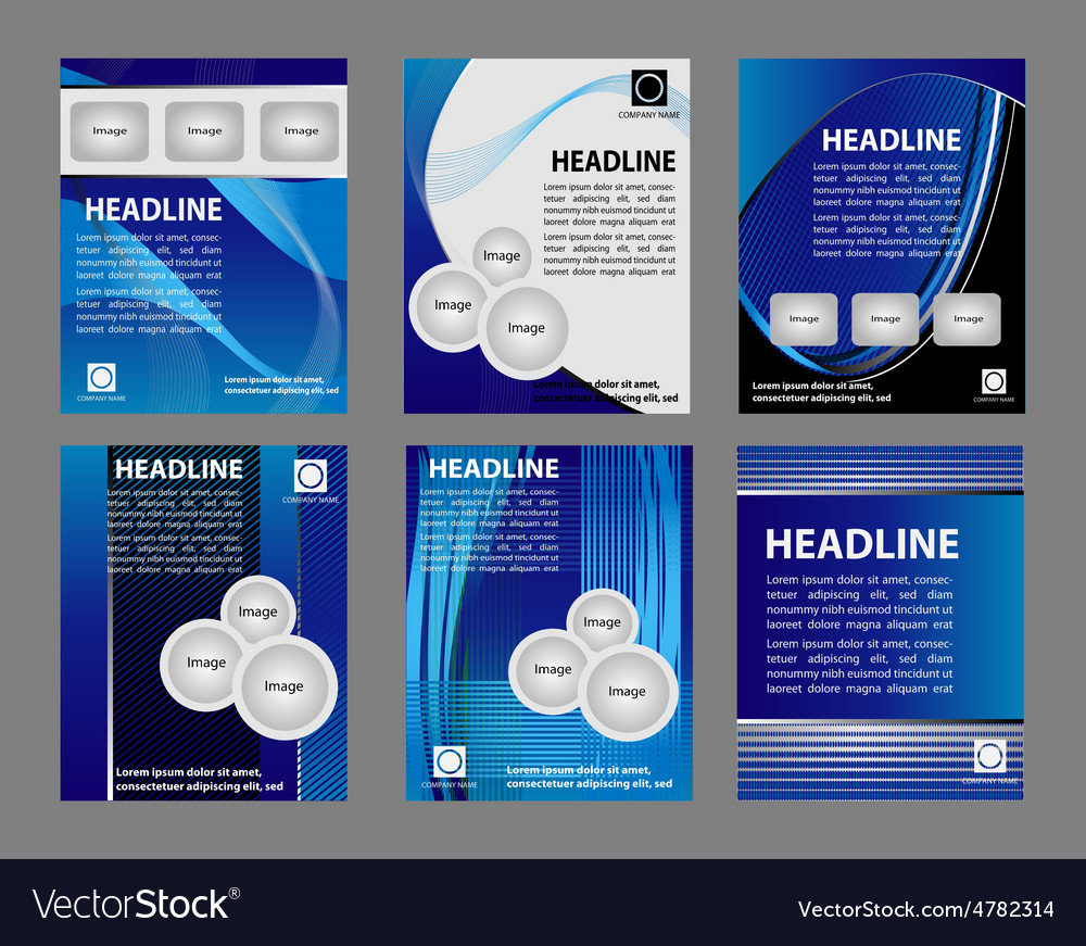 Set of modern brochure easy editable vector
