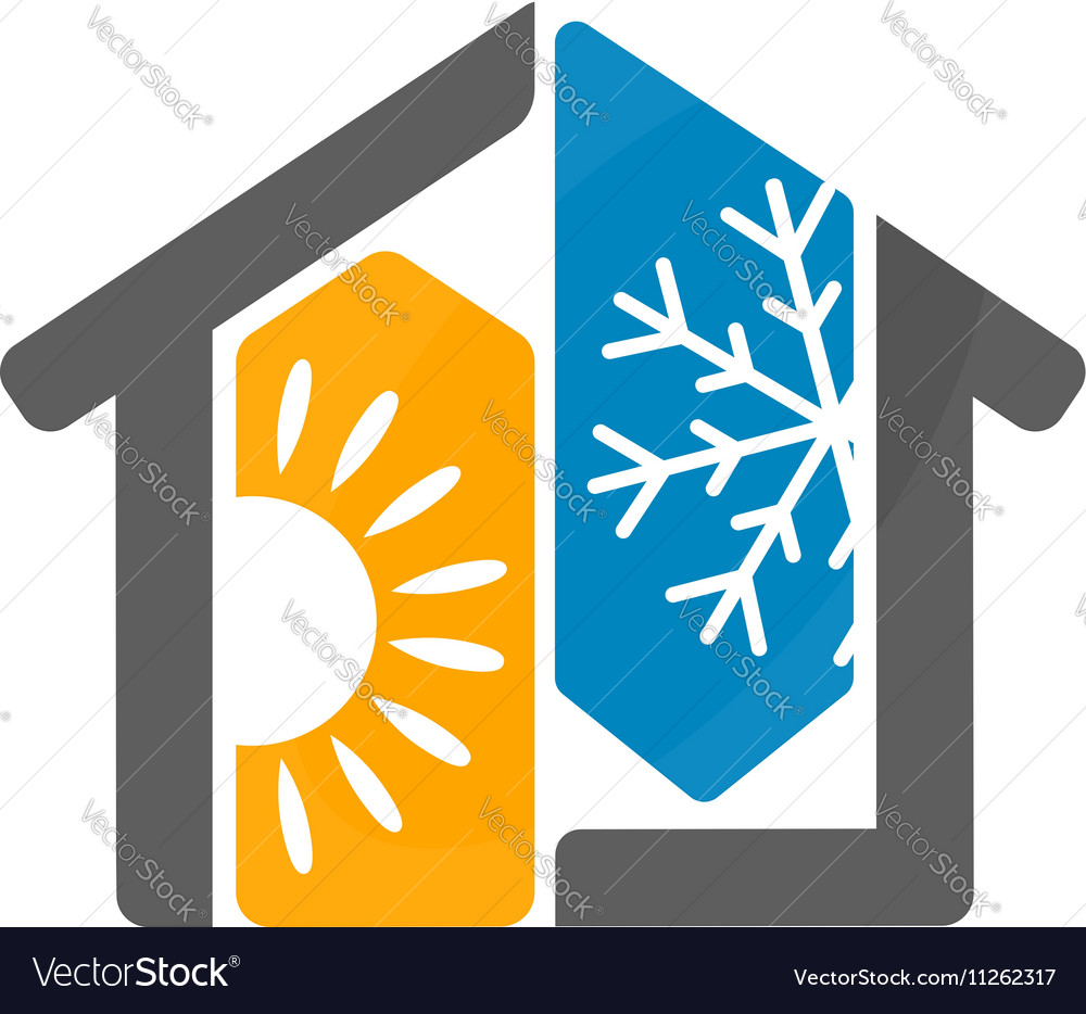 Air conditioning house design vector