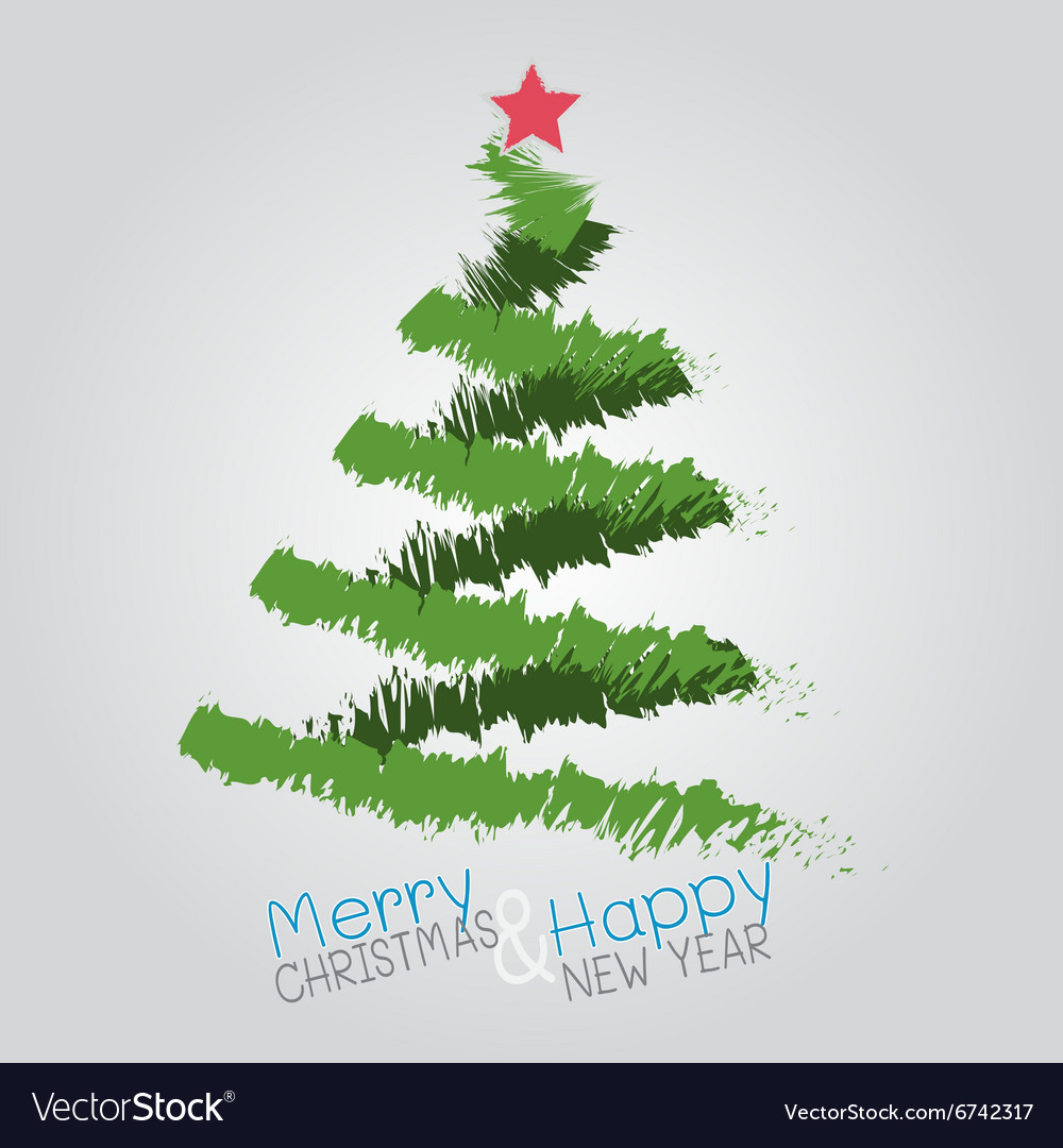 Christmas tree 1 vector
