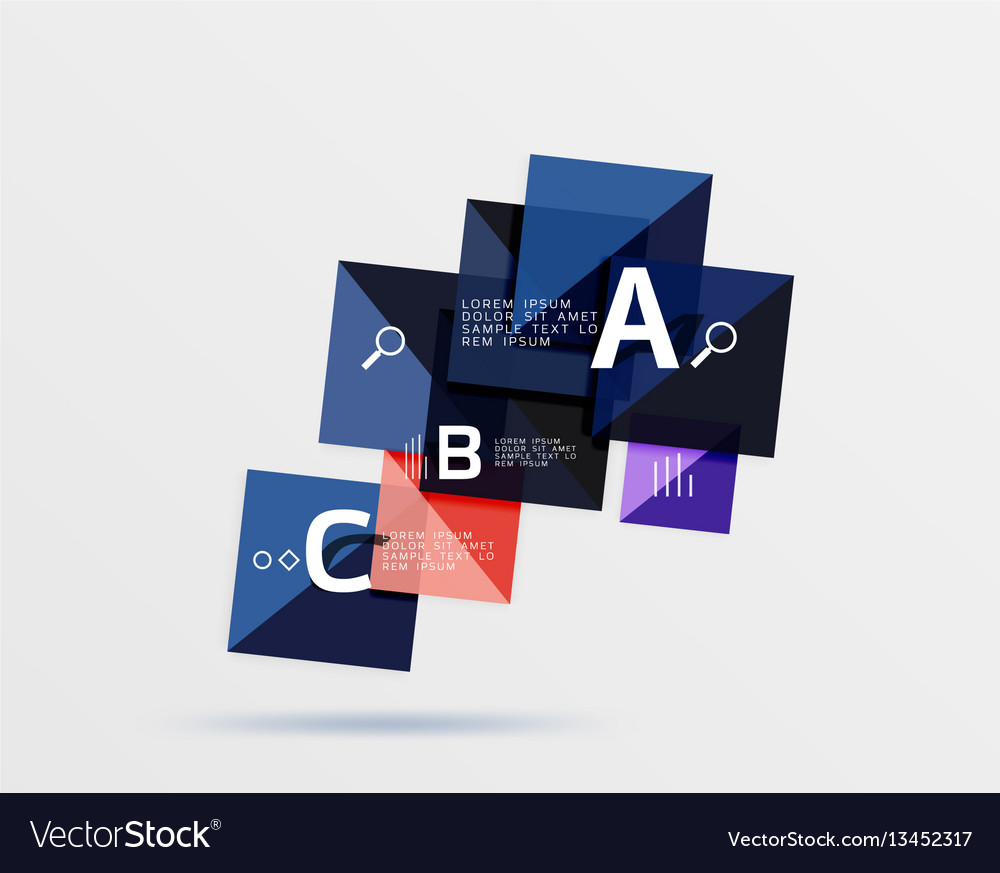 Geometric abstract background with option vector