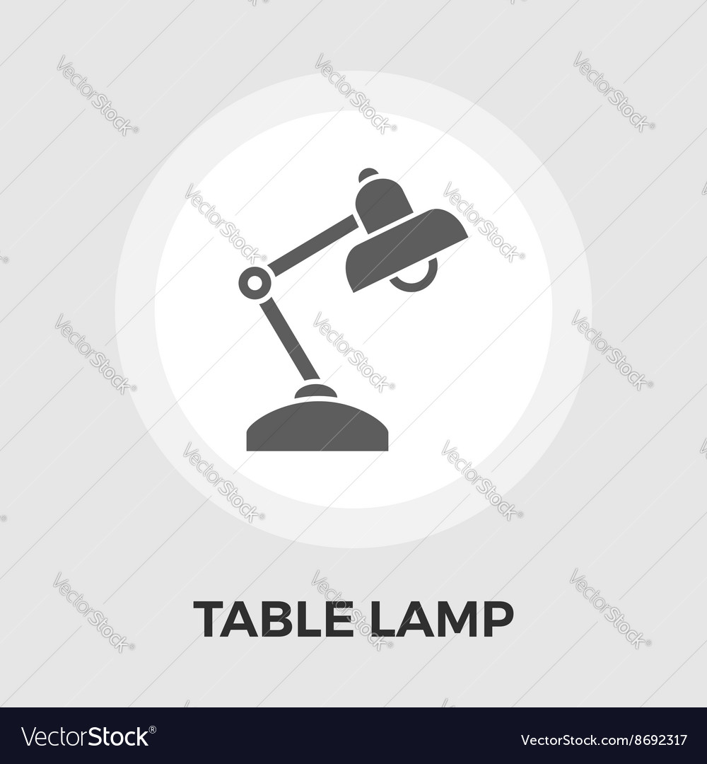 Readinglamp flat icon vector