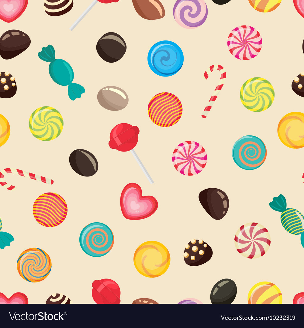 Candies texture lollipop vector