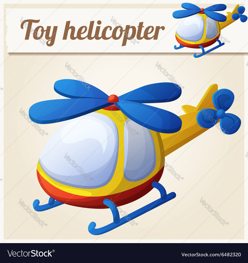 Toy helicopter cartoon vector
