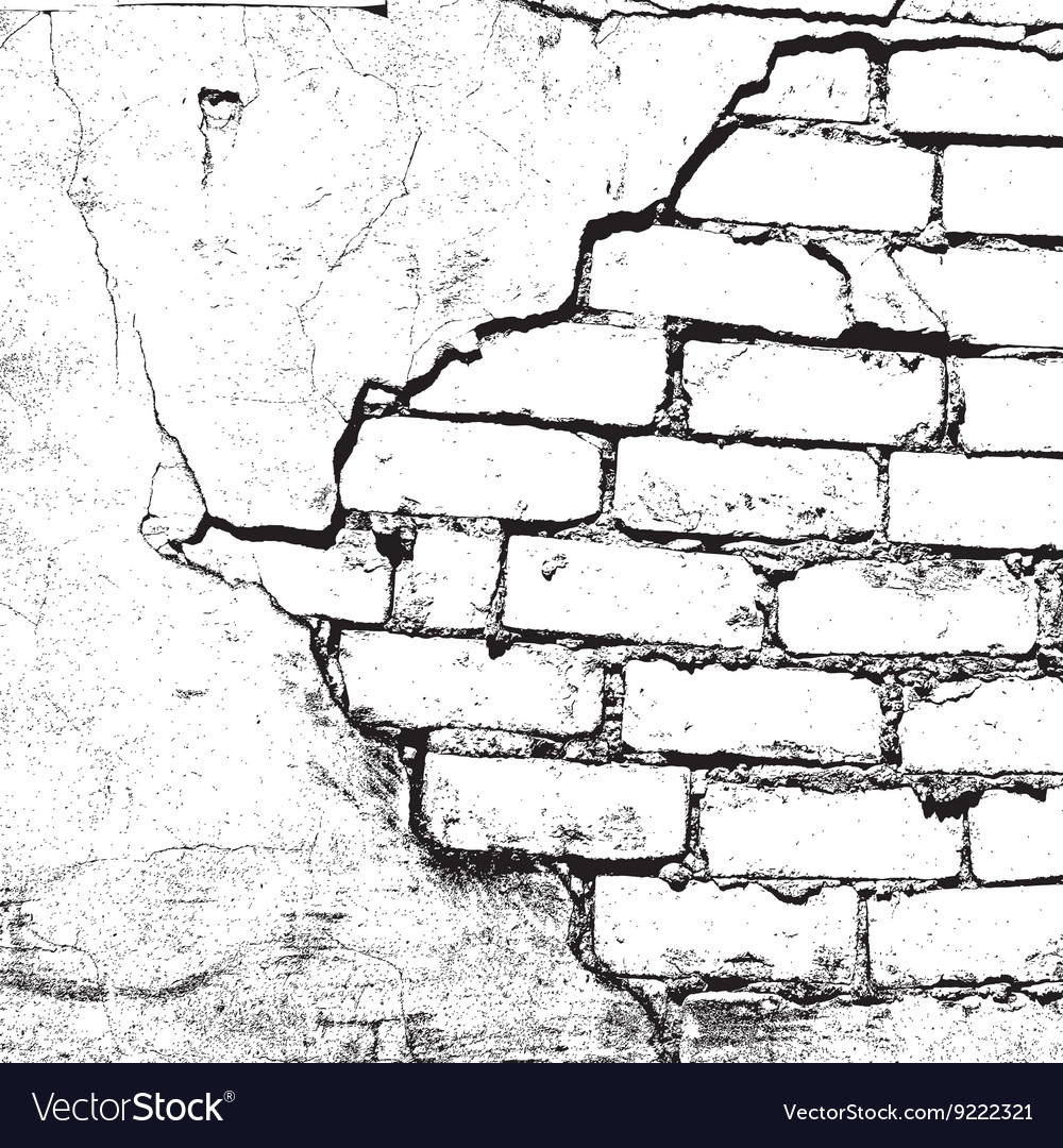 Brick damaged texture vector