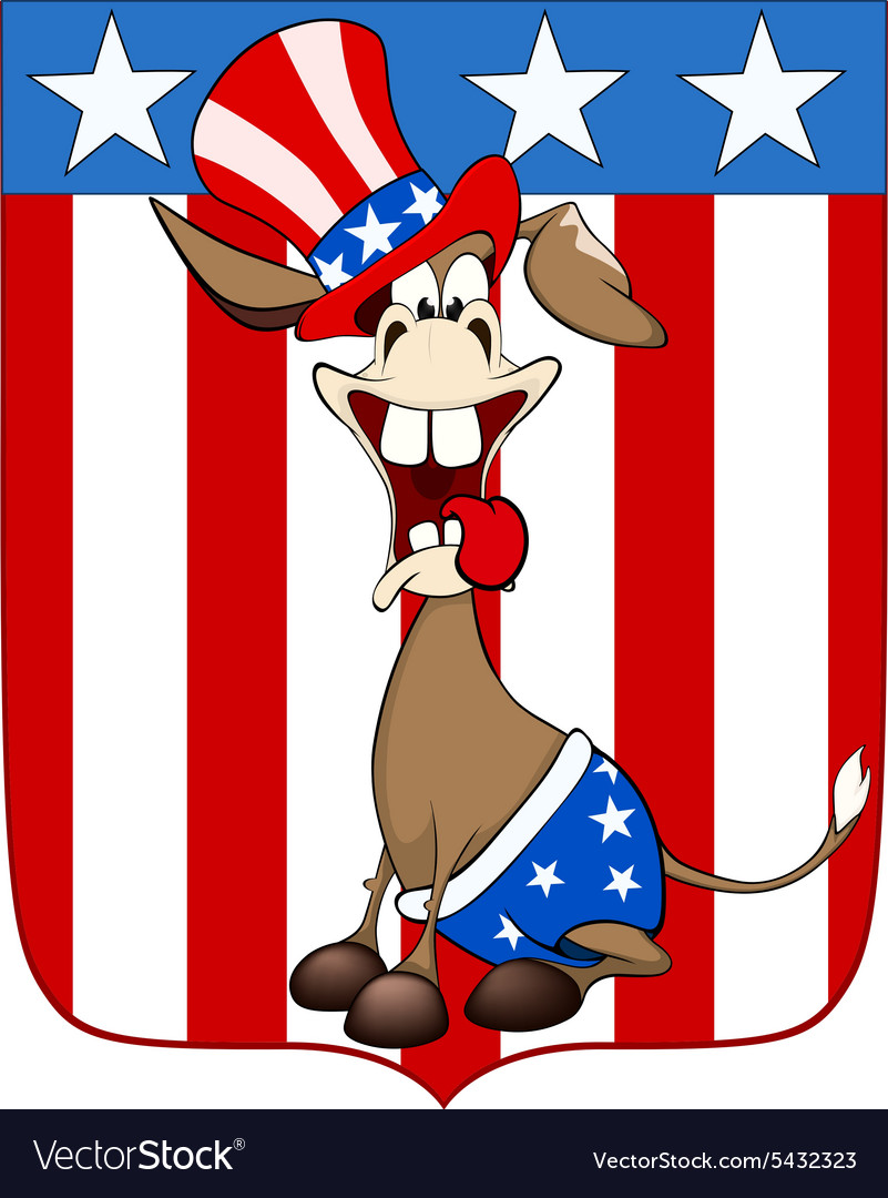 American donkey the donkey party vector